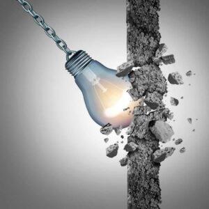 Future Proof Leadership - swinging lightbulb