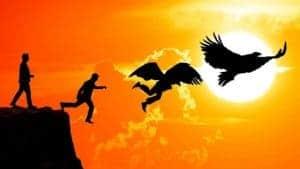 Future Proof Leadership - man turning into eagle