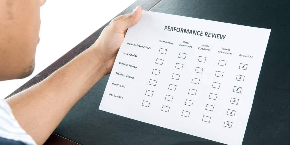employee review sheet