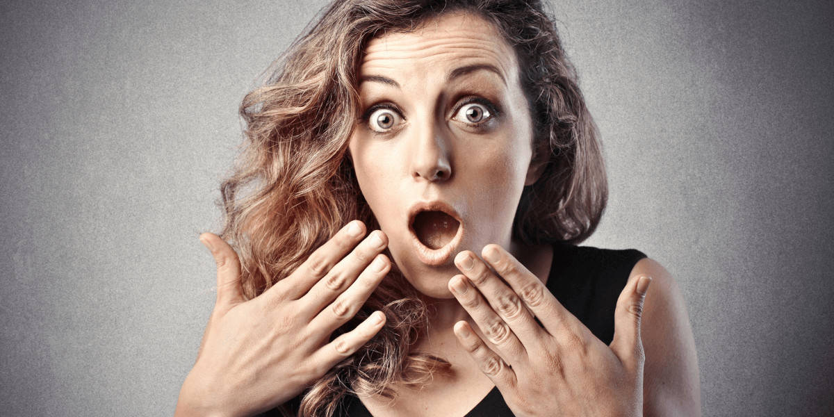 Woman with surprised expression