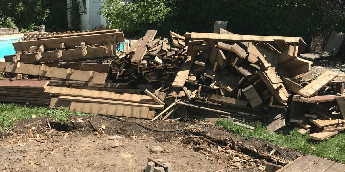Result after deck demolished