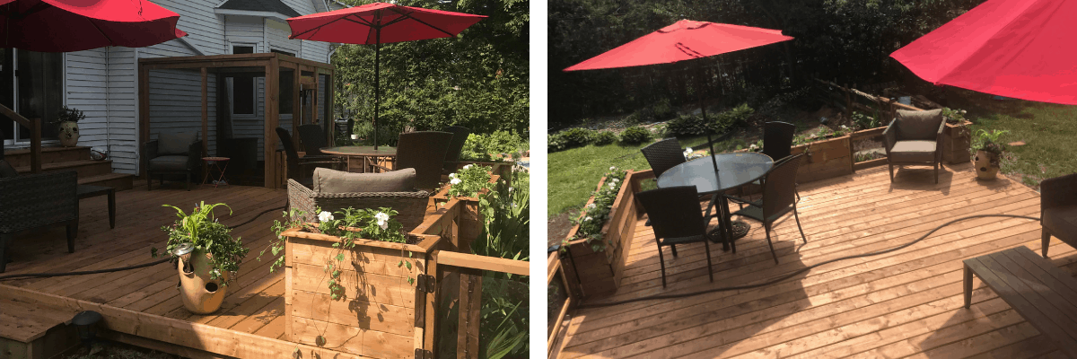 Summer deck completed
